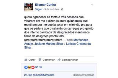 RN POLITICA EM DIA: CANDIDATO DERROTADO XINGA ELEITORES QUE NÃO VOTARA...