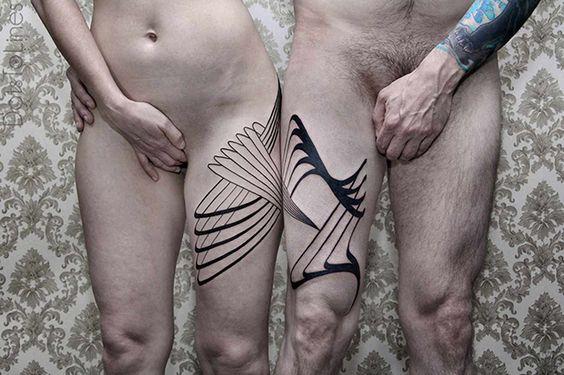 Chaim Machlev - tatuagens com padrões geométricos simétricos;
