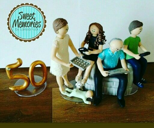 Comemorando as Bodas de Ouro rodeados pelos netos!