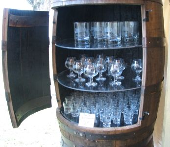 Whiskey Barrel Used For Bar Storage This Site Has Tons Of