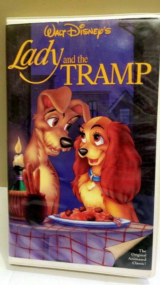Disney Lady And The Tramp Vhs Black Diamond W Red Signature Classics Rare 582 Lady And The Tramp Walt Disney Classics Disneyland Princess