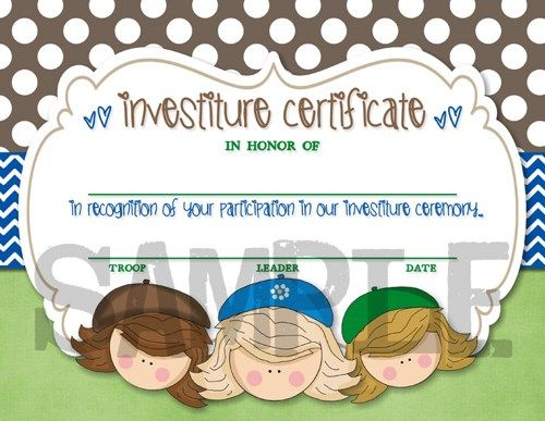 Scouts Investiture Certificate - Printable, DIY | Captured-by-Jess ...