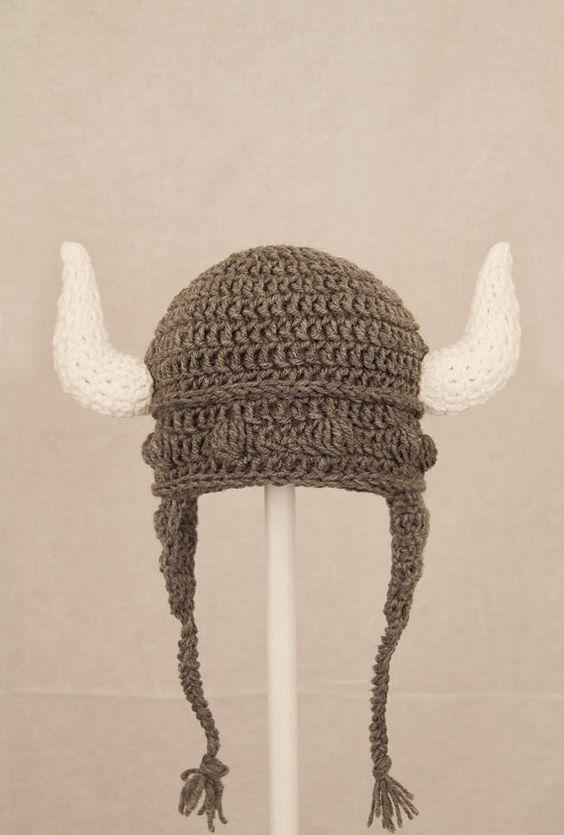 crochet crash crochet viking crochet earflap grey crochet earflap hat ...