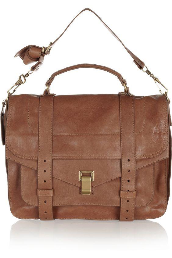 Proenza Schouler The PS1 large leather satchel NET-A-PORTER.COM