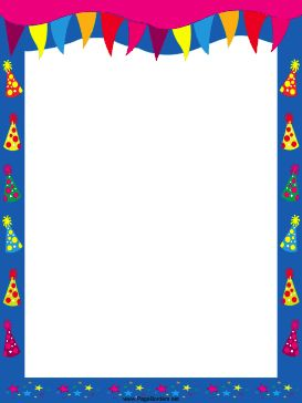Pics For > Free Printable Birthday Borders And Frames