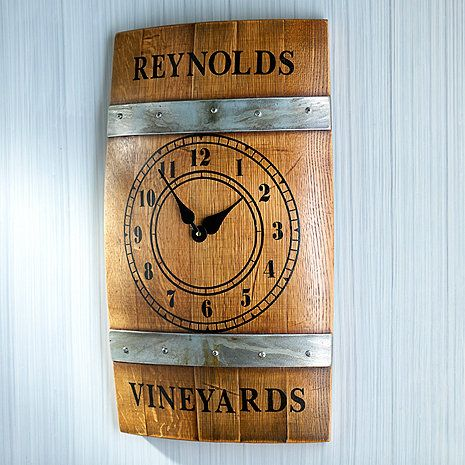 Personalized Wine Barrel Wall Clock at Wine Enthusiast - $199.95: