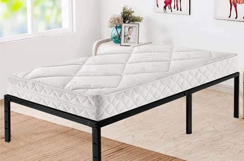2 Hageep Twin Bed Frame With Storage For Kids Metal Twin Bed