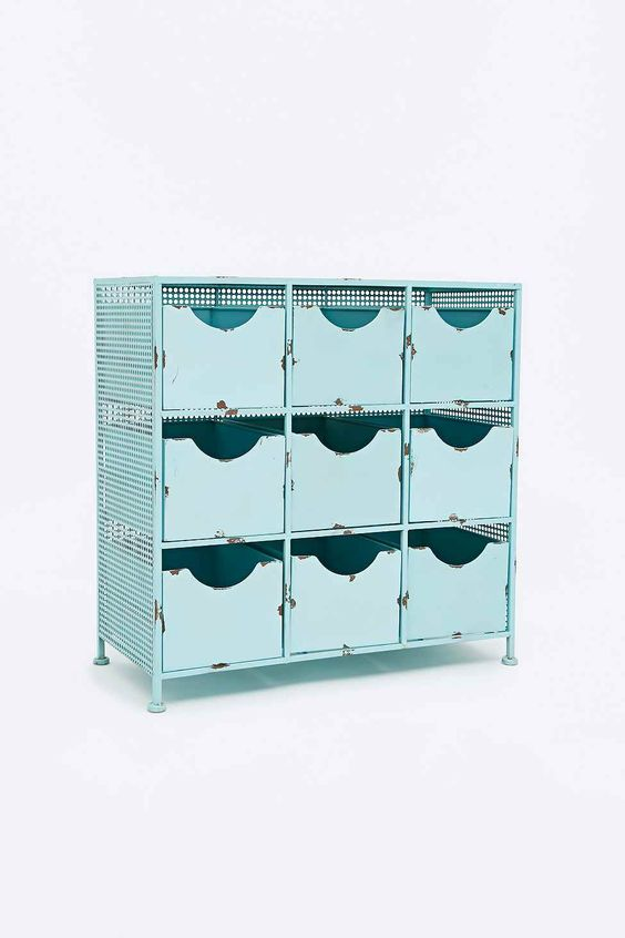Metal Cabinet in Light Blue (nice for a bathroom?)