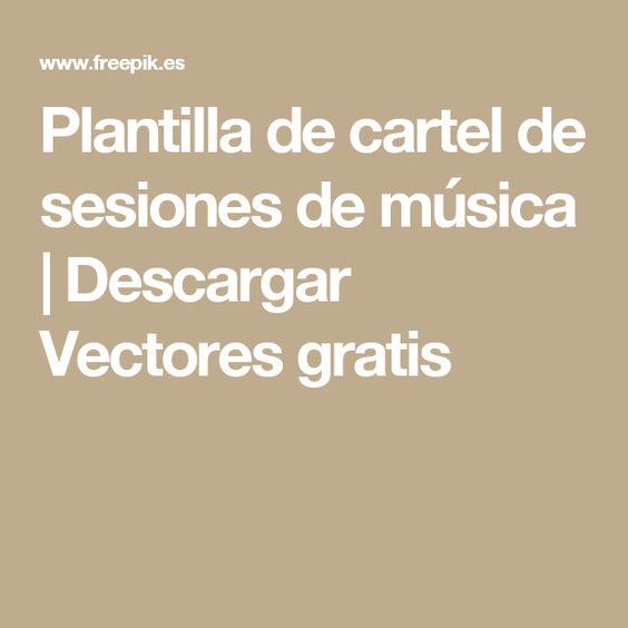 Plantilla de cartel de sesiones de música   Descargar Vectores gratis