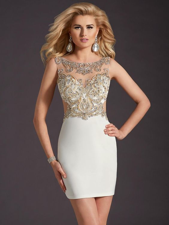 Cocktail dress by Clarisse. Perfect for homecoming! STYLE: 2671 ...