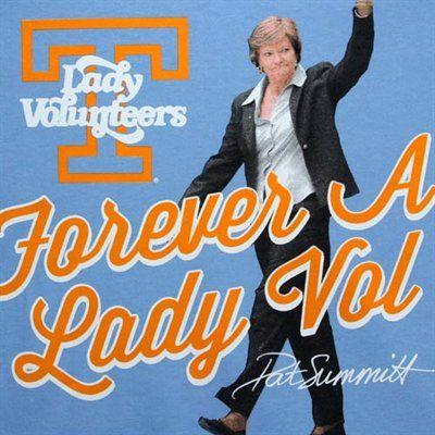 adidas Tennessee Lady Vols Pat Summitt Vol Memories T-Shirt - Light Blue