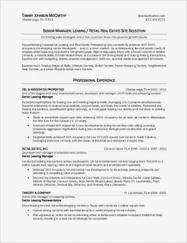Sample Resume For Sales Executive In Real Estate Real Estate