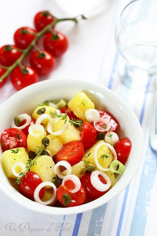 Salade de Pommes de Terre à la Sicilienne #recette @ 1 Déjeuner de Soleil