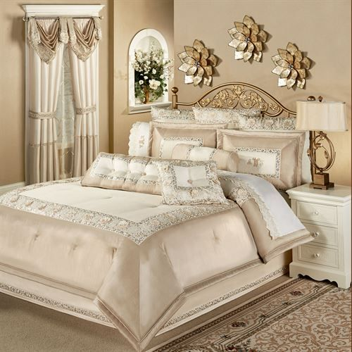 Elegante Faux Silk Luxury Comforter Bedding Comfortable Bedroom Elegant Bedroom Luxurious Bedrooms