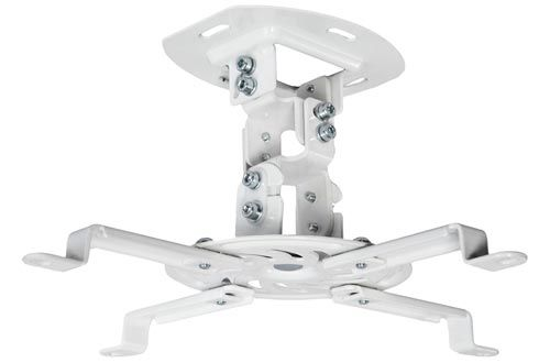 Vivo Universal Adjustable White Ceiling Projector Projection Mount Extending Arms Mount Vp01w Ceiling Projector Best Projector Projector Mounts