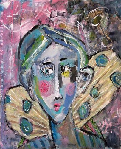 """Flutterby"" - Original Fine Art for Sale - © Joanie Springer"