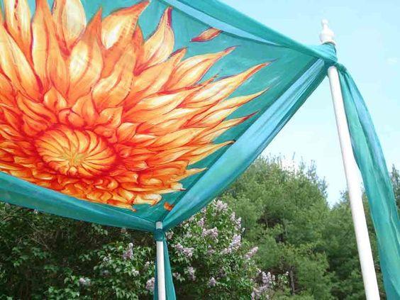 beautiful colours - Hand Painted Silk Sunburst