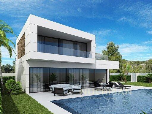 Villa Zaida Nos Ofrece Un Diseno Moderno Y Funcional Sobre Parcelas De 400 M2 Para Villas De 160 M2 Y 700 M2 Para Villa Chalet Moderno Casas Casas Con Alberca