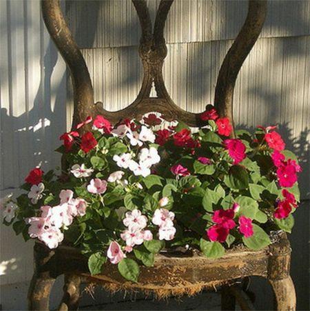 Unique Flower Pot Or Container Ideas Old Chair Plant Pot