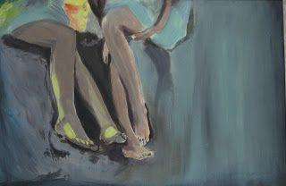 Füße im Sand | Acryl auf Leinwand | 50x70