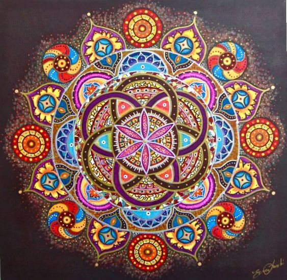 mandalas mandala art and hippie kunst on pinterest. Black Bedroom Furniture Sets. Home Design Ideas