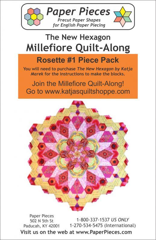 The New Hexagon Millefiore Quilt-Along Rosette #1 Piece Pack: