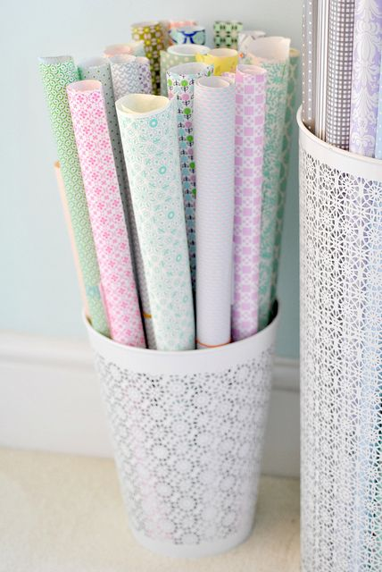 Gift wrap baskets by toriejayne, via Flickr