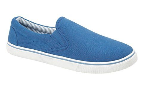 Mens Canvas Slip On Casual plimsolls Loafers Pumps Deck Boat
