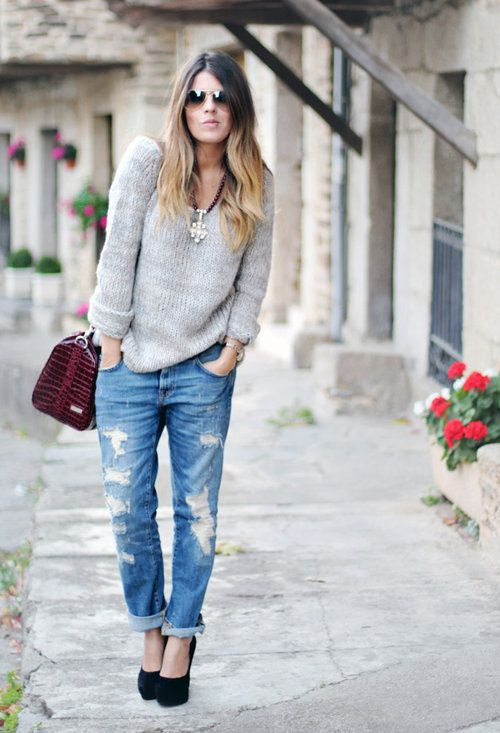 Boyfriend Jeans Lefties In Sweaters Zara In Jeans