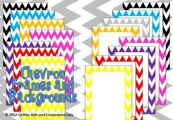 FREE: Use these colourful chevron frames and backgrounds to jazz up your products or classroom!Includes:* 8 x PNG file colourful chevron frames* ...