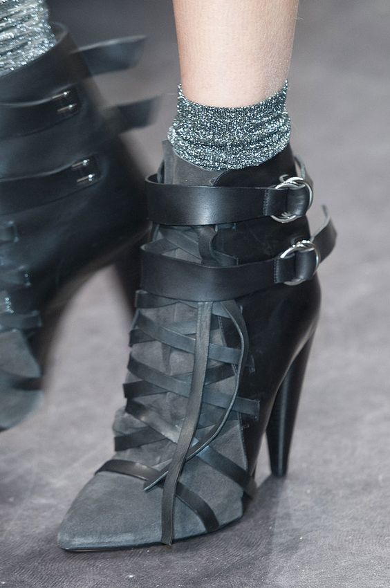 Isabel marant See Paris Fashion Week's Latest Runway Shoes: Shoe girls know the truth: the most exciting part of a runway show is checking out the heels, sandals, and boots the models wear down the runway.