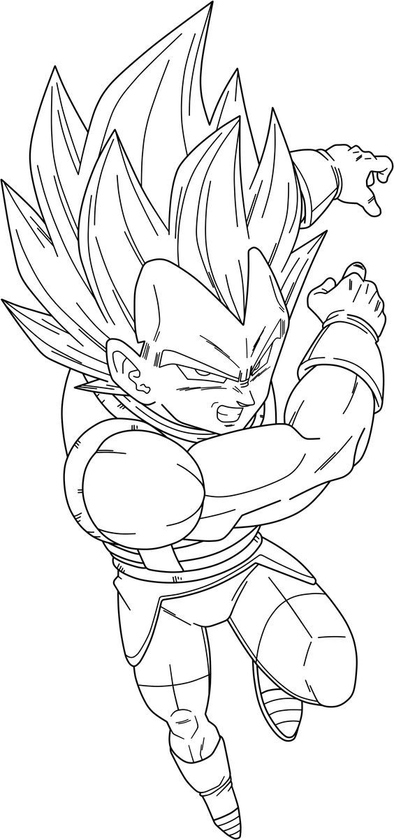 Dragon Ball Z 165 Cartoons Printable Coloring Pages