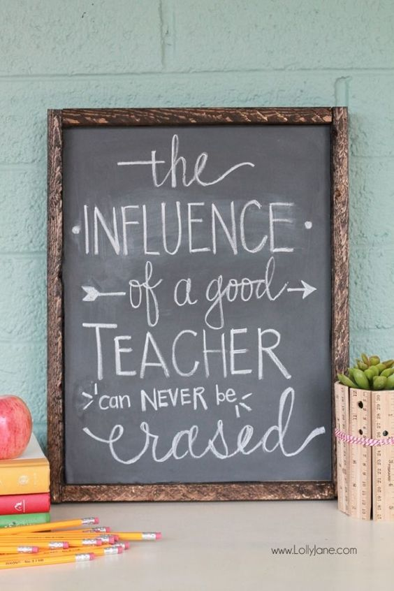 DIY Chalkboard Vinyl Framed Sign, no chalkboard paint or vinyl cutter needed! Just stick on and write in chalk!