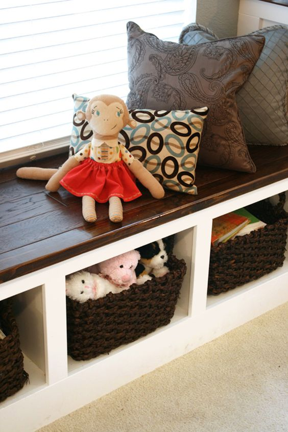 A Family Room Makeover Before And After Bench Storage Window And Storage Benches
