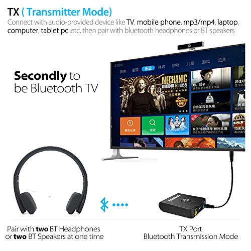 Bluetooth Transmitter and Receiver,Cootway 2-in-1 Bluetooth