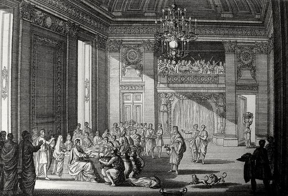 Phillip Medhurst presents John's Gospel: Bowyer Bible print 5306 Christ turns water into wine John 2:12 Perelle on Flickr. A print from the Bowyer Bible, a grangerised copy of Macklin's Bible in Bolton Museum and Archives, England.
