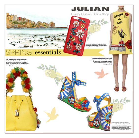 """sicilian summer"" by georginamaybrown ❤ liked on Polyvore featuring Dolce&Gabbana, dolceandgabbana and Julian"