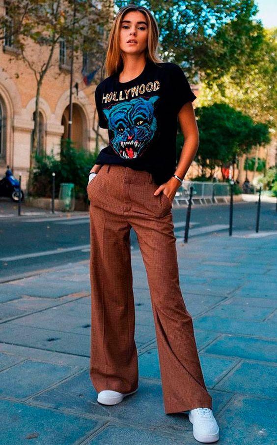 T-shirt vintage: nada como uma camiseta com ares de antiga para criar o perfeito visual rock'n'roll e descolado sem muito esforço.