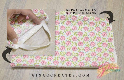 No Sewing Machine Face Mask Tutorial With Free Pattern Cross Crafts Sewing Projects Sewing Crafts