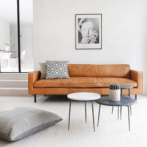 Cognac is the colour of the moment! Our sofa is made of 100% natural leather. Check www.furnified.com, you can't find a better price! #leather #leathercouch #cognacleather #lederensofas #interieur #antwerp #belgique #belgium #furnified #wehavebeenfurnified #home #decor #interiordesign #styling #homedesign