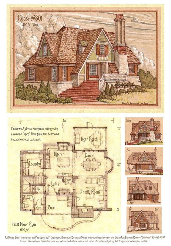 House 301 storybook cottage by built4ever on deviantart for Storybook cottages floor plans