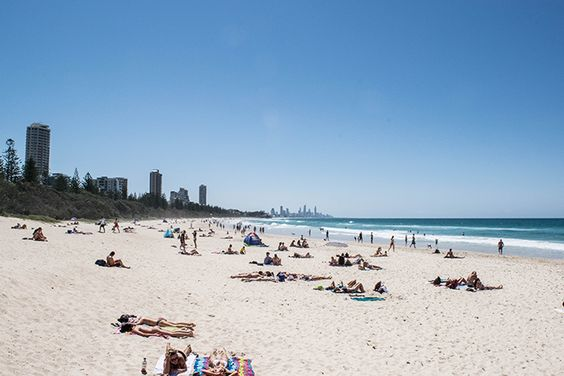 It wouldn't be a trip to Burleigh if you didn't catch some waves and rays at the main beach! But if sand and saltwater aren't your thing, why not hire a cruiser and explore the beach(side) on two wheels. #thisisqueensland