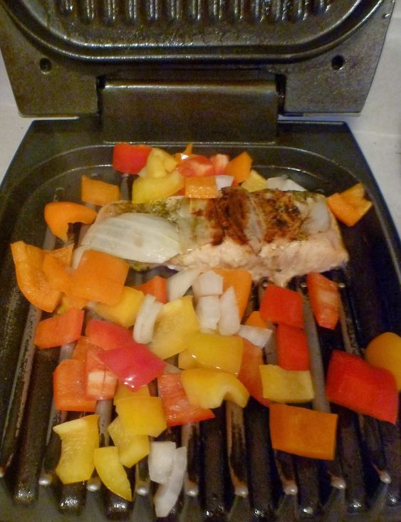 Asparagus george foreman and how to grill salmon on pinterest for George foreman grill fish