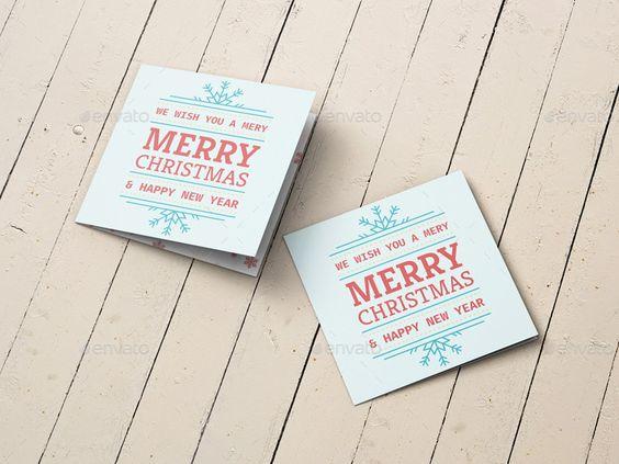 Square Greeting Card and Invitation Mockup – Greeting Cards and Invitations