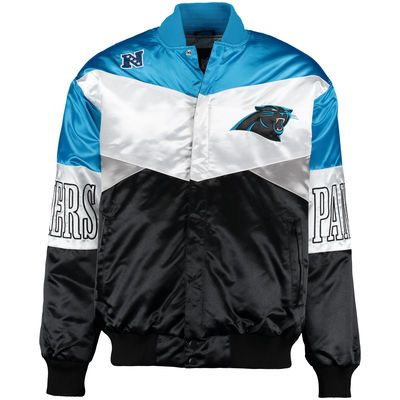 Men's Carolina Panthers G-III Sports by Carl Banks Blue/Black Shout-Out Satin Jacket