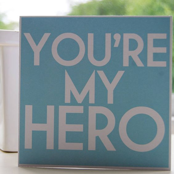 My Hero by My Love Lane: Great for a new Dad or for Fathers Day!  #Card #Hero: Gift Idear S, Adrian S Hero, Card Hero, Daddys Girl, Father Dear, Miss You Daddy, Fathers Day Cards, New Dads