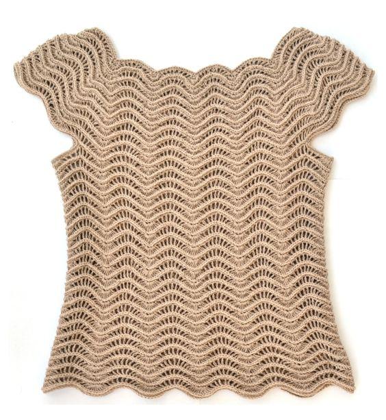 Estonian Waves Crochet top $6 pattern