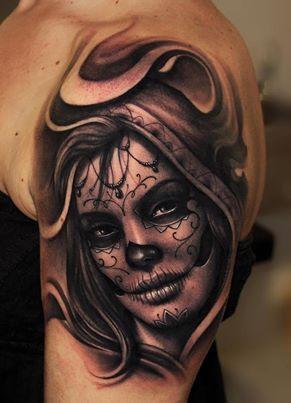 Pinterest le catalogue d 39 id es - Santa muerte tatouage signification ...