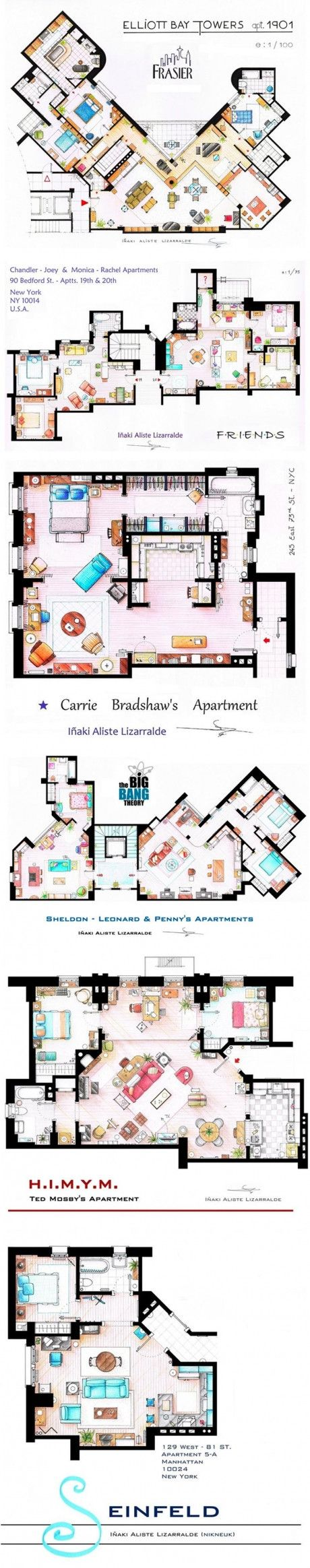 Floor Plans Seinfeld And Tv Shows On Pinterest