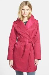 Gallery Belted Wrap Raincoat